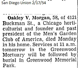 oakley v morgan obituary