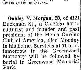 oakley v morgan obituary