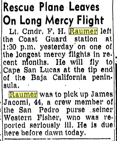 Fred h Raumer plane rescue