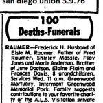 Frederick h Raumer obituary