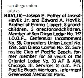 Joseph havlik obituary