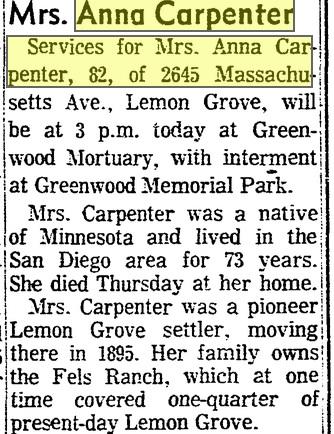 anna carpenter obituary