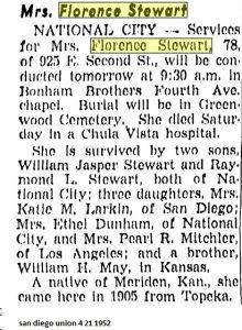 florence stewart obituary