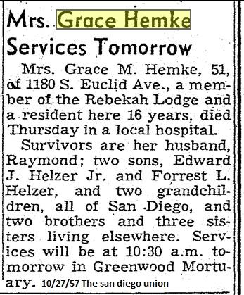 grace hemke obituary