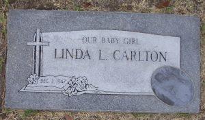 linda l carlton head stone