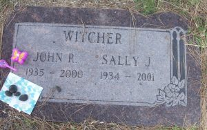 witcher john r sally j head stone